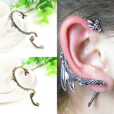 Punk Gothic Vintage Dragon Snake Ear Cuff Punk Clip Wrap Stud Earrings Wholesale