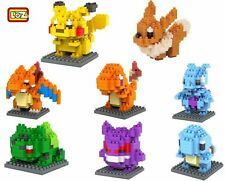 8 Sets Pokemon Pocket Monster Lot Mini Figures Charizard Diamond Nano Blocks Toy