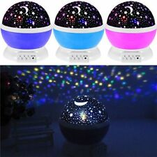LED Rotating Night Projector Starry Night Light Star Lamp Romantic Projector