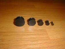 "1 Pair 6g-9/16 Inch Solid Silicone Plugs ""Black"""