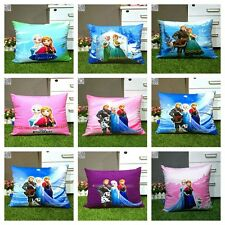 Frozen Sisters Home Decoration Cotton Linen Throw Pillow Case 1pc Cushion Cover