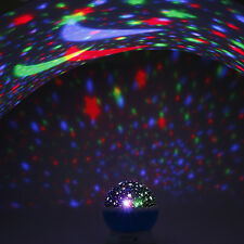 Novelty Rotary Flashing Starry Sky Star Moon Night Light Projector Lamp For Kids