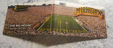 1999 Michigan Wolverines Football Fold-out Pocket Schedule Big House FREE Ship