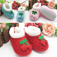 1 Pair Boots Cute Infant Non-Slip Baby Toddler's Winter Soft Polka Dot Shoes