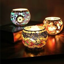 Handcrafted Mosaic Glass Candlestick Candle Holder Candelabra Home Wedding Decor