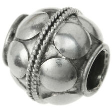 Bali 925 Sterling Silver Round Ball Dot Bead For European Charm Bracelets