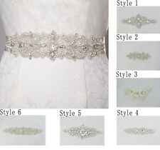 New Bridal Sash Belt, Bridal Wedding Dress Belt Rhinestone Applique DIY Craft