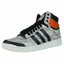 ADIDAS TOP TEN HI 'SNAKESKIN' RETRO BASKETBALL SHOES CORE BLACK WHITE M25601