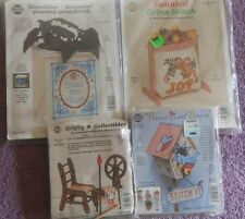 CHOOSE ONE: NEEDLEMAGIC NMI COUNTED CROSS STITCH KITS with WOOD or HOOP/STAND