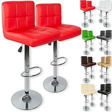 Kesser® Set 2 Faux Leather Breakfast Swivel Bar Stool Kitchen Barstools Gas Lift