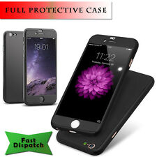 Hybrid 360° Hard Ultra thin Case With Tempered Glass Cover For iPhone Models