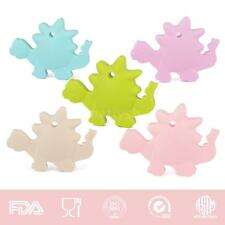 New Dinosaur Pendant Baby Teething Silicone Teether Autism Sensory Chew Toy L0P6