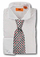 Dress Shirt Steven Land - Cutaway Spread Collar  French Cuff- White -DC1246-WH