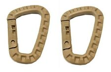 2 x ITW TAC LINK TACTICAL ABS TACLINK CARABINER MOLLE GhillieTEX MADE IN USA