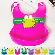 Infant Waterproof Silicone Feeding Lunch Bibs Saliva Unisex Kids Baby Aprons