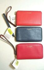 NWT COACH 64976 ZIP WRISTLET UNIVERSAL PHONE CASE in 3 Colors Retail $68