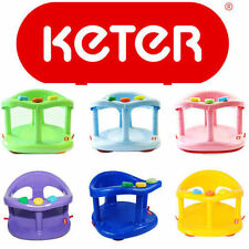 Infant Baby Bath Tub Ring Safety Seat Anti Slip KETER Plastic Chair Color