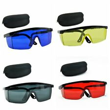 Safety Laser Glasses Goggles Eye Protection w/ Box RED DARK BLUE BLACK YELLOW US
