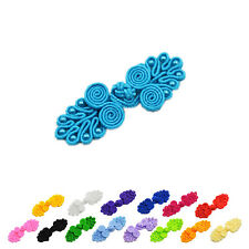 4 Sets Handmade Tradition Chinese Knots Frog Button Closure Beaded DIY Sewing