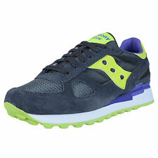 SAUCONY WOMEN'S SHADOW ORIGINAL RETRO RUNNING SHOES CHARCOAL CITRON S1108-566