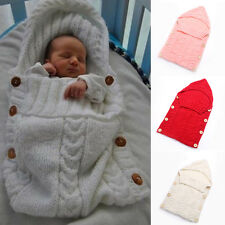 2016 New Cute Baby Sleeping Bag Button Sides 0-12 Months Knitting Pattern