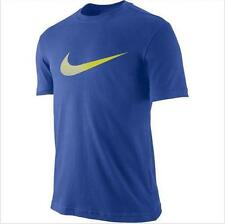 New Nike Mens Royal Blue Swoosh Dri-FIT Cotton T-Shirt Sports Liesure Workouts