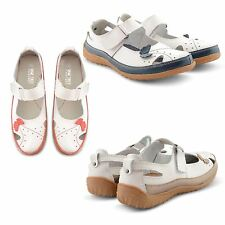 WOMENS SLIP ON LEISURE GENUINE LEATHER VENTILATED COMFY CASUAL SUMMER SHOES