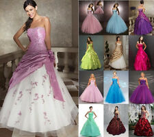 New Formal Prom Party Ball Gown Wedding Bridesmaid Evening Dress Stock Size 6-18