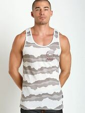 G-Star Shirts Yoshem Camo Stripes Tank Top White Heather
