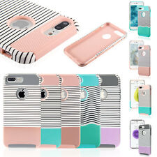 Shockproof Hybrid Rugged Protective Wave Design Case Cover For iPhone 7 6S Plus