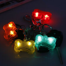 Safety Bone Flashing Glow Light Blinking LED Tags Collar Pendant Pet Dogs Puppy