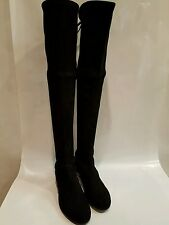 Stuart weitzman lowland black suede over the knee boot nib