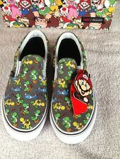 Vans Toddler/Kids Boys Nintendo (Yoshi) Classic Slip On Shoes/ Sizes: 5-3/NWB