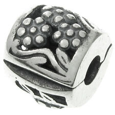 Antique 925 Sterling Silver Snap Clip Clasp Bead for European Charm Bracelets