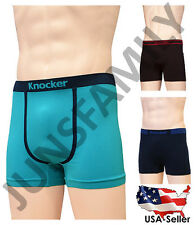 Lot of 6 or 12 Mens Knocker Seamless Microfiber Solid Boxer Briefs Underwear