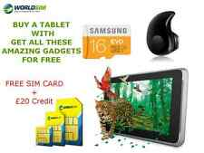 """UNLOCKED 7"""" ANDROID TABLET WIFI + 3G + Samsung SD Cheap Basic SMART PHONE TAB PC"""