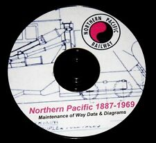 Northern Pacific RR Maintenance of Way Data & Diagrams PDF Pages on DVD
