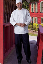 """Classic Baggy Chef Pant 2"""" Elastic Waist by Uncommon Threads Black XS-2XL, 4005C"""
