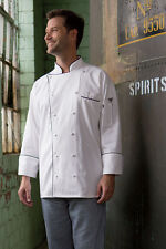 Uncommon Threads Provence chef coat, White with Black trim, XS to 2XL, 0442C