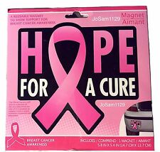 HOPE FOR A CURE - Pink Ribbon BREAST CANCER AWARENESS Car Magnet - Fridge Magnet