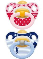 NUK Baby Pacifier Happy Kids Soother Boy/ Girl Latex sizes 1/2 BPA Free