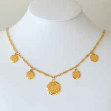 Arabic Coin Necklace 24k Gold Plated Necklaces Middle East Coin Jewelry 16 - 26""