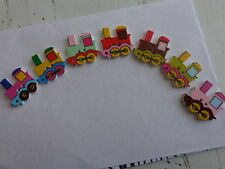25x ramdon mixed locomotive train sewing buttons 22x24mm