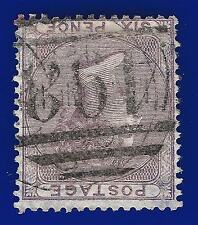 1856 SG70Wi 6d Pale Lilac (Wmk Inv) Good Used Manchester 498 duplex cancellation