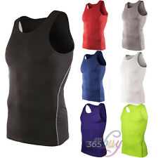 Mens Under Shirt Warm Body Armour Compression Gear Base Layer Tank Top Vest Tops