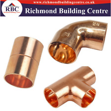 15mm Copper End Feed Plumbing Fittings coupling, elbow, tee Pack of 2,5,10,or 25