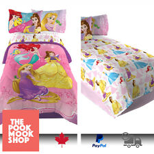 Twin/Full Comforter+Sheet BEDDING SET Reversible BED Disney Princesses GIRLS