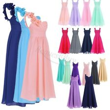 Girls Flower Lace Bridesmaid Party Princess Prom Wedding Christening Dress