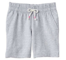 NWT Jumping Beans Medium Gray Heather Cotton Bermuda Shorts Girls Toddler 3T, 4T