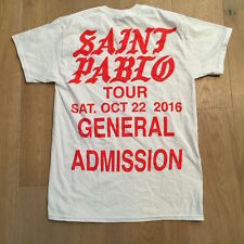 Kanye West Saint Pablo Tour shirt SHORT sleeve WHITE yeezy GENERAL ADMISSION